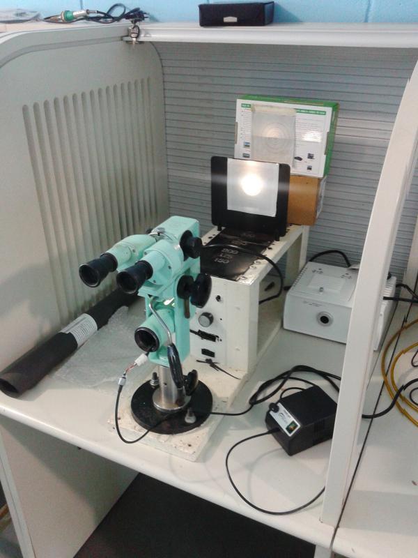 Manutenção preventiva de microscópios