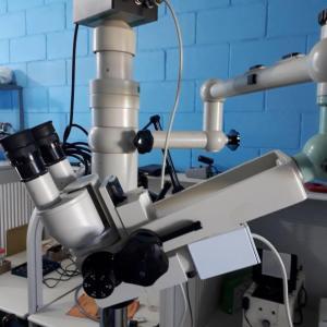 Microscópio de led usado